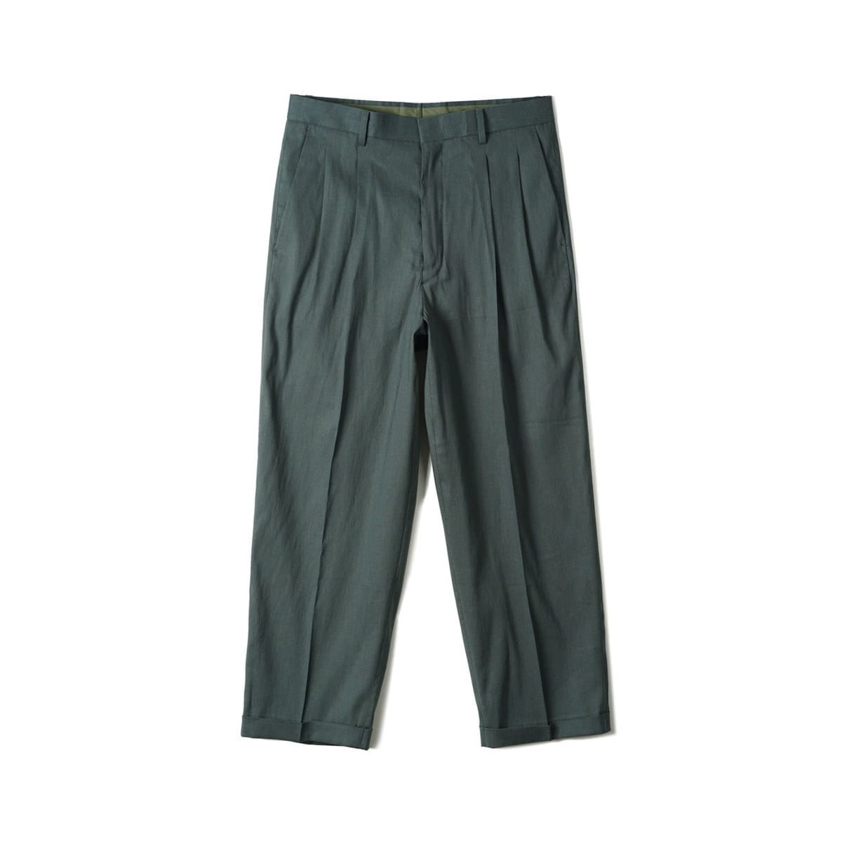 [OOPARTS] TWO PLEAT CLASSIC PANTS 'GREEN'