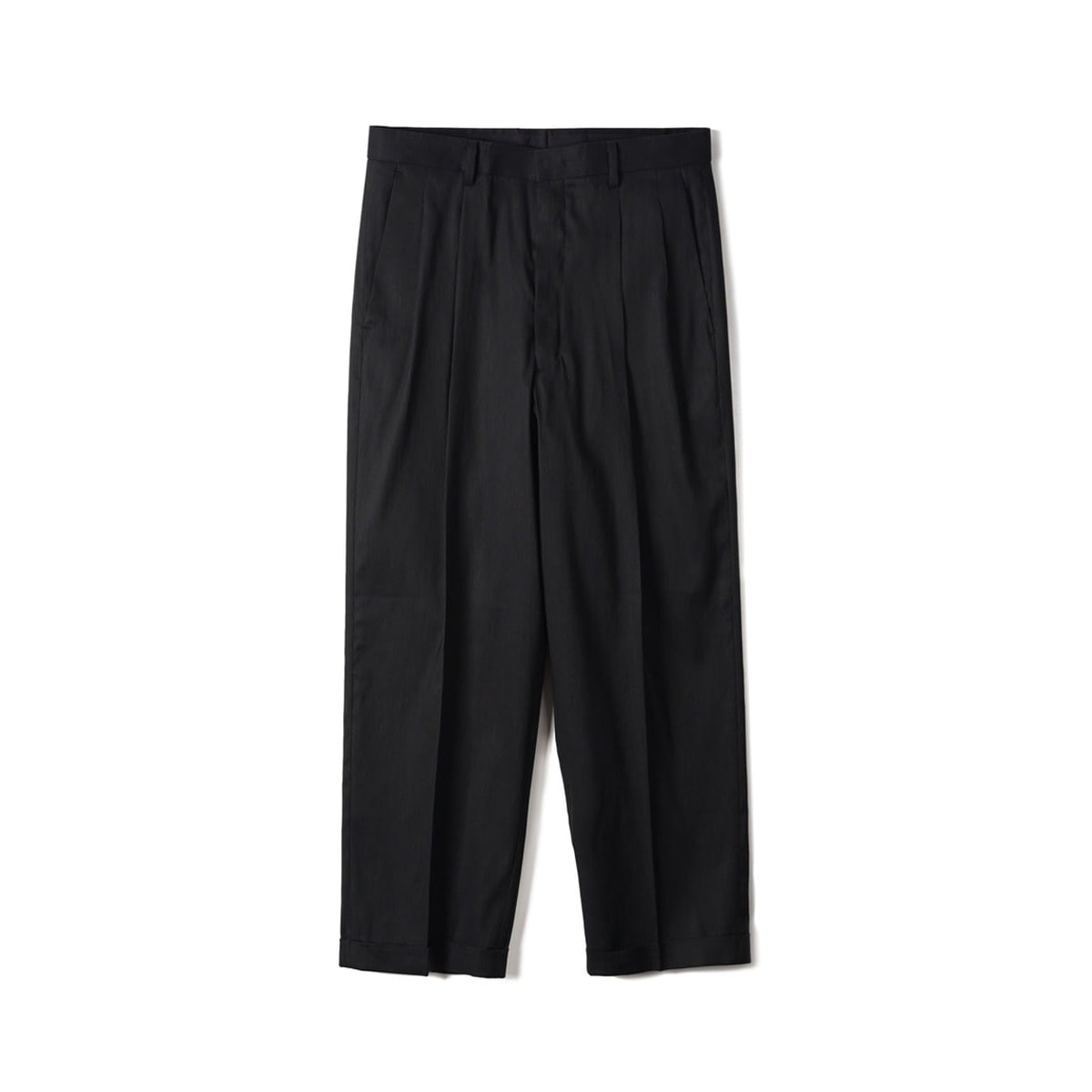 [OOPARTS] TWO PLEAT CLASSIC PANTS 'BLACK'