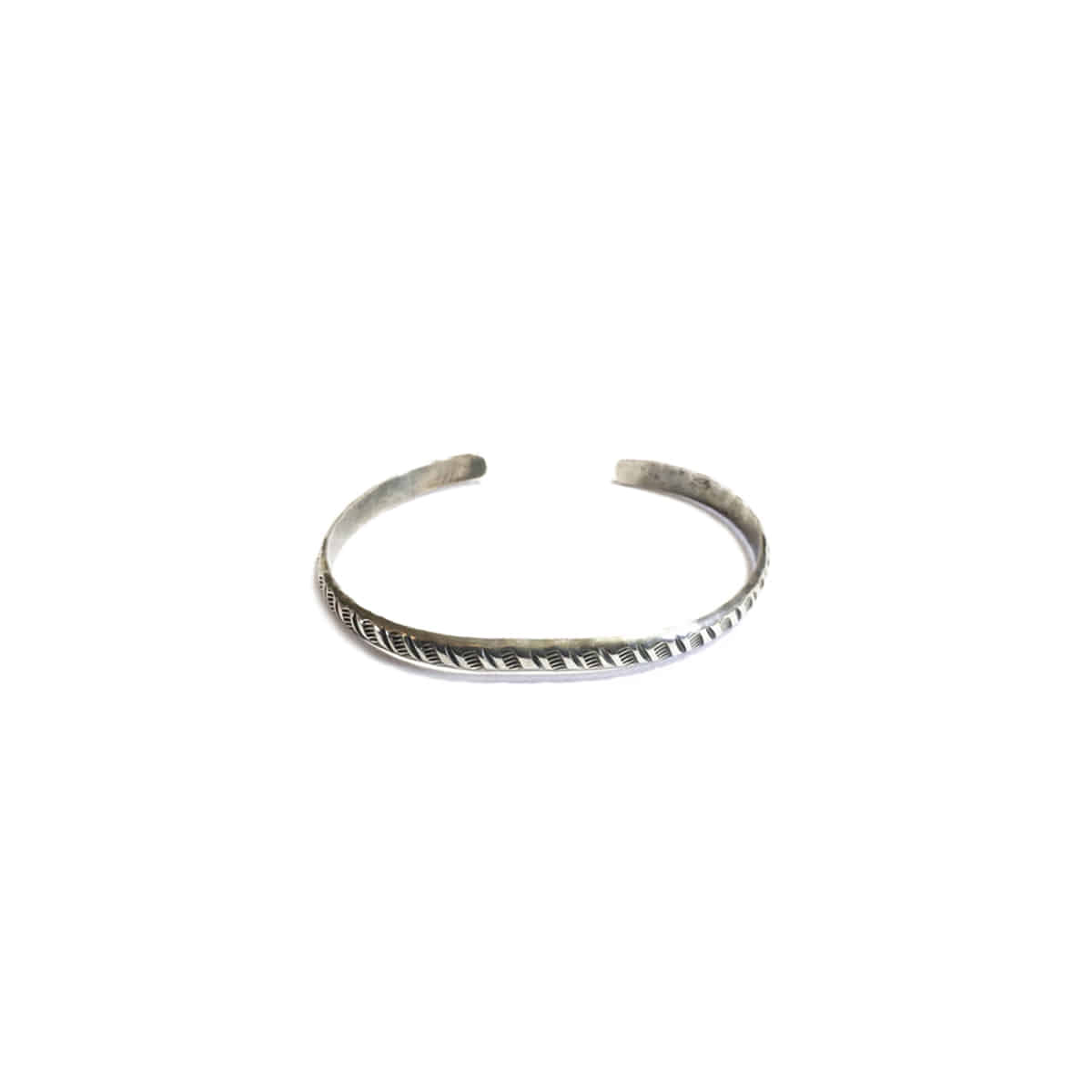 [NORTH WORKS] 900 SILVER ROUND CUFF BANGLE 'W-042'