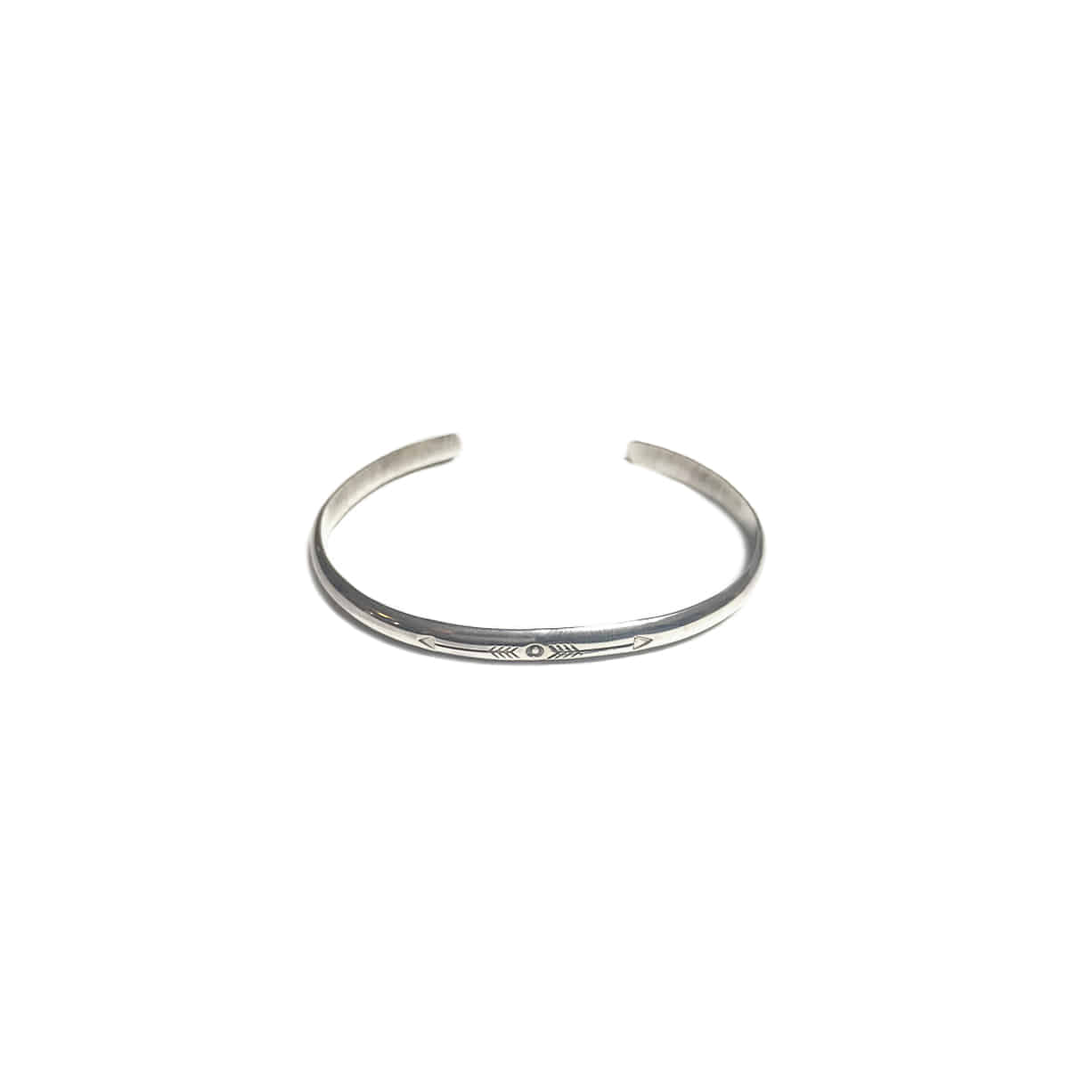 [NORTH WORKS] 900 SILVER ROUND CUFF BANGLE 'W-221'