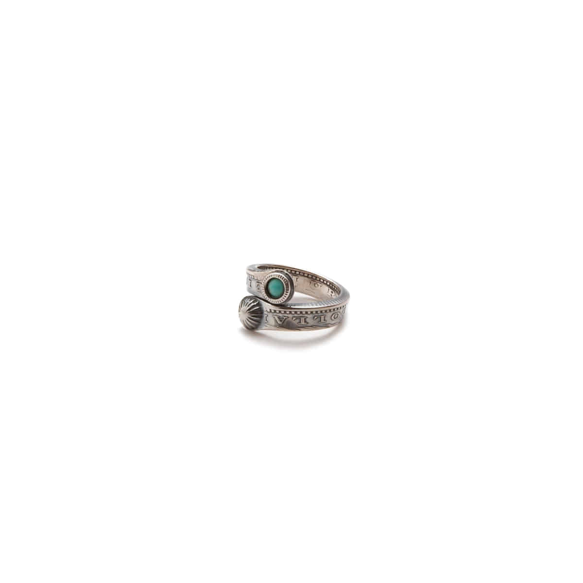[NORTH WORKS] MORGAN DOLLAR TWIST RING SLIM(TURQUOISE/MINI CONCHA) 'N-205'