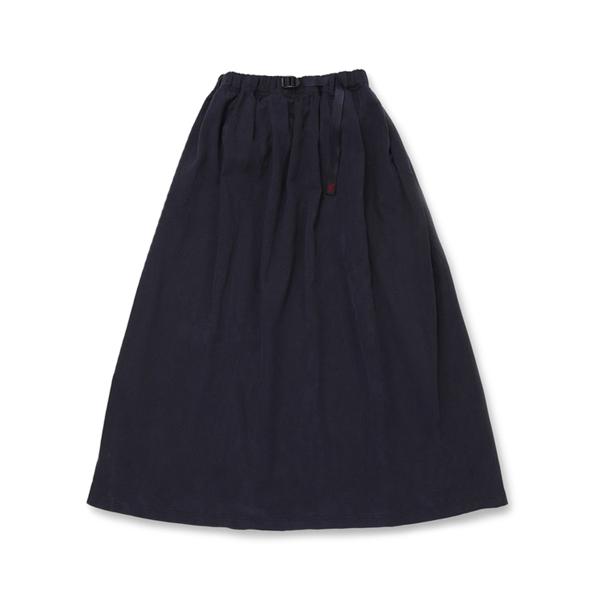 [GRAMICCI] TENCEL LONG FLARE SKIRT 'DOUBLE NAVY'