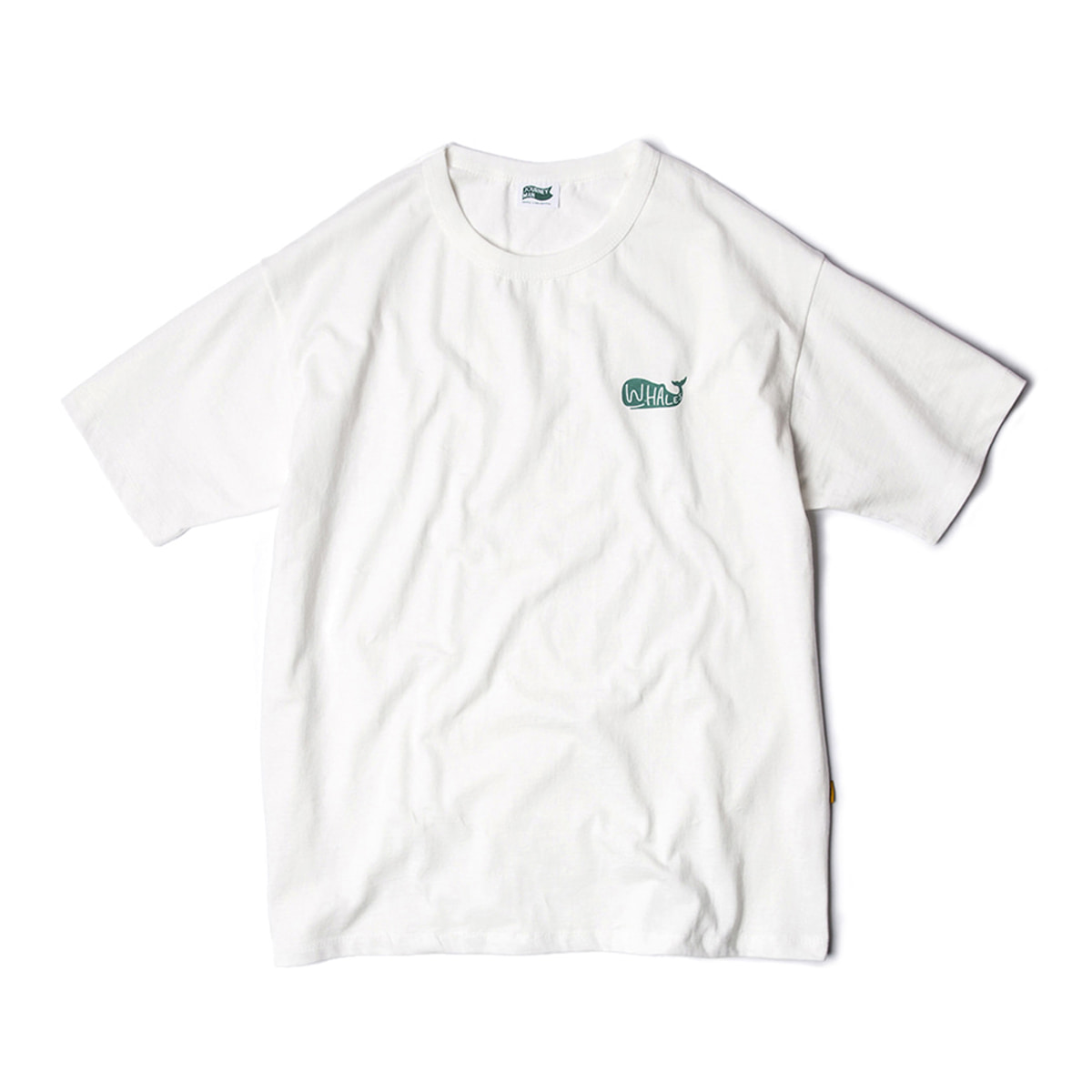 [JOURNEYMAN] WHALE'S SURFER TEAM SMALL LOGO T-SHIRTS 'OFF WHITE'