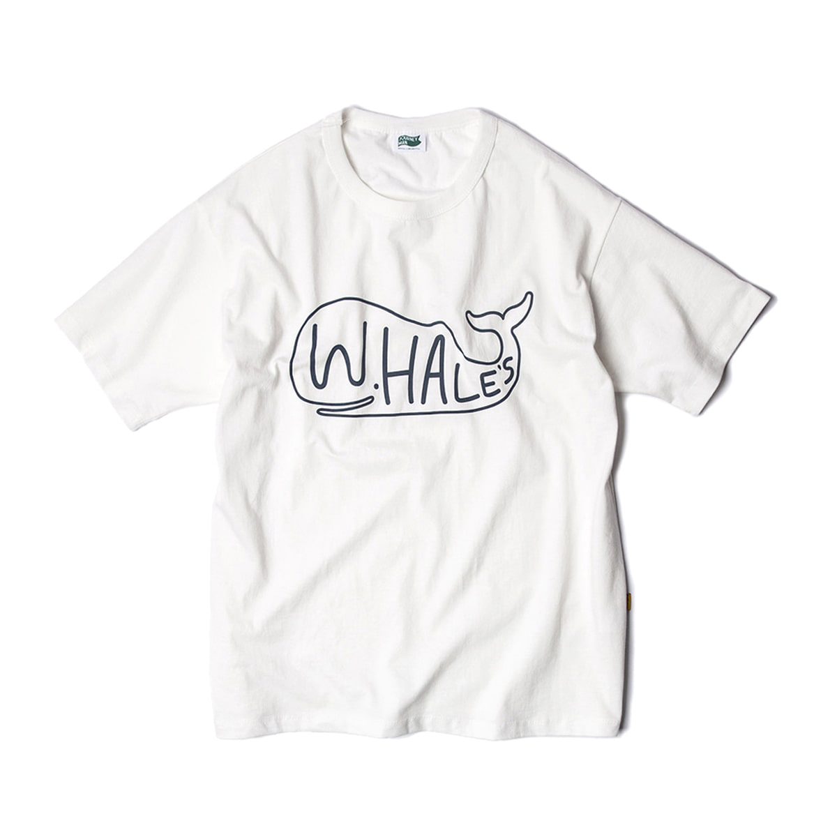 [JOURNEYMAN] WHALE'S SURFER TEAM BIG LOGO T-SHIRTS 'OFF WHITE'