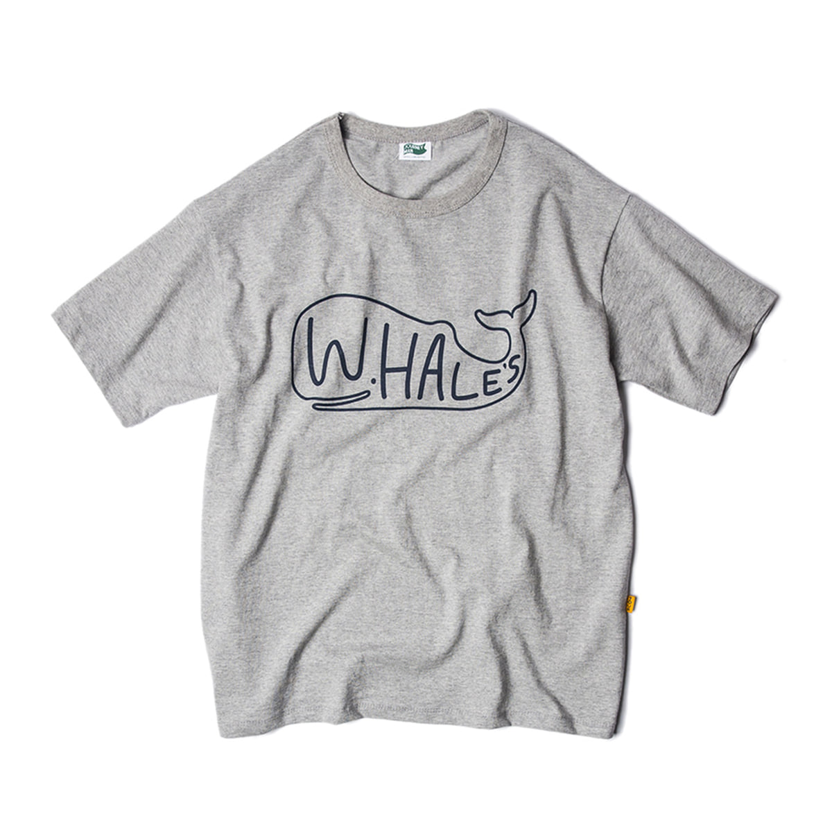 [JOURNEYMAN] WHALE'S SURFER TEAM BIG LOGO T-SHIRTS 'HEATHER GRAY'