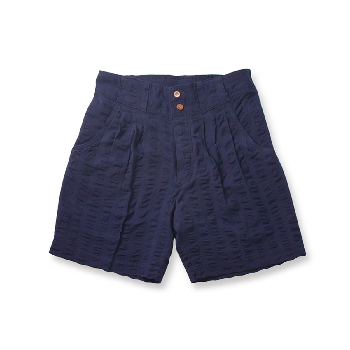[HAVERSACK] OXFORD SEERSUCKER SHORTS 'NAVY'