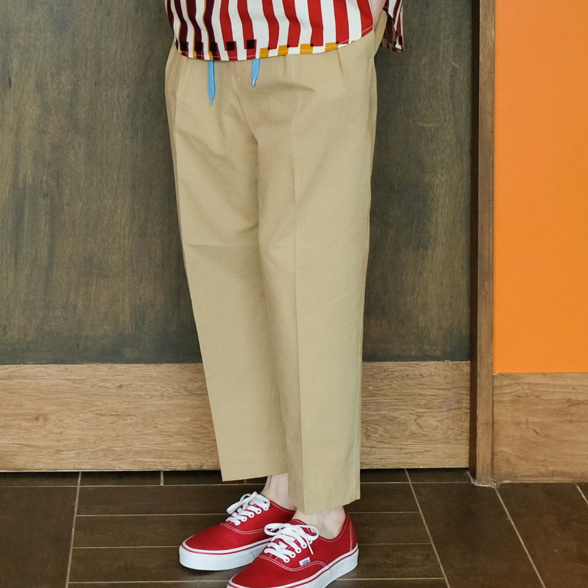 [DAILY INN] LOBBY BOY 2-PLEATS EASY PANTS 'BEIGE'