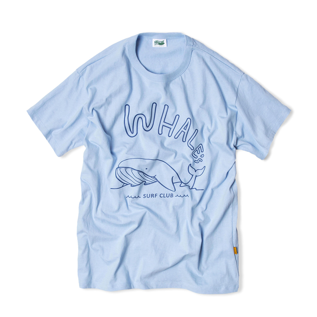 WHALE'S SURFER TEAM WHALE'S SWIMMING T-SHIRTS 'OCEAN BLUE'
