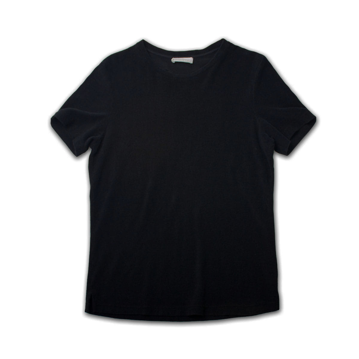 [GIRELLI BRUNI] WIDE NECK TERRY COLTH T-SHIRT 'BLACK'