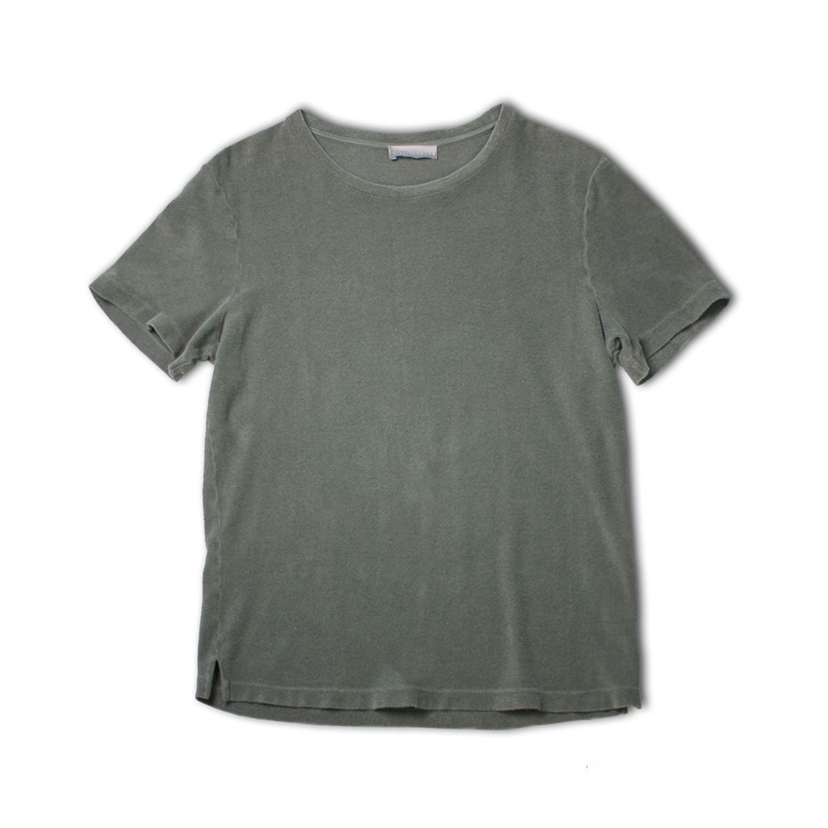 [GIRELLI BRUNI] WIDE NECK TERRY COLTH T-SHIRT 'KHAKI'
