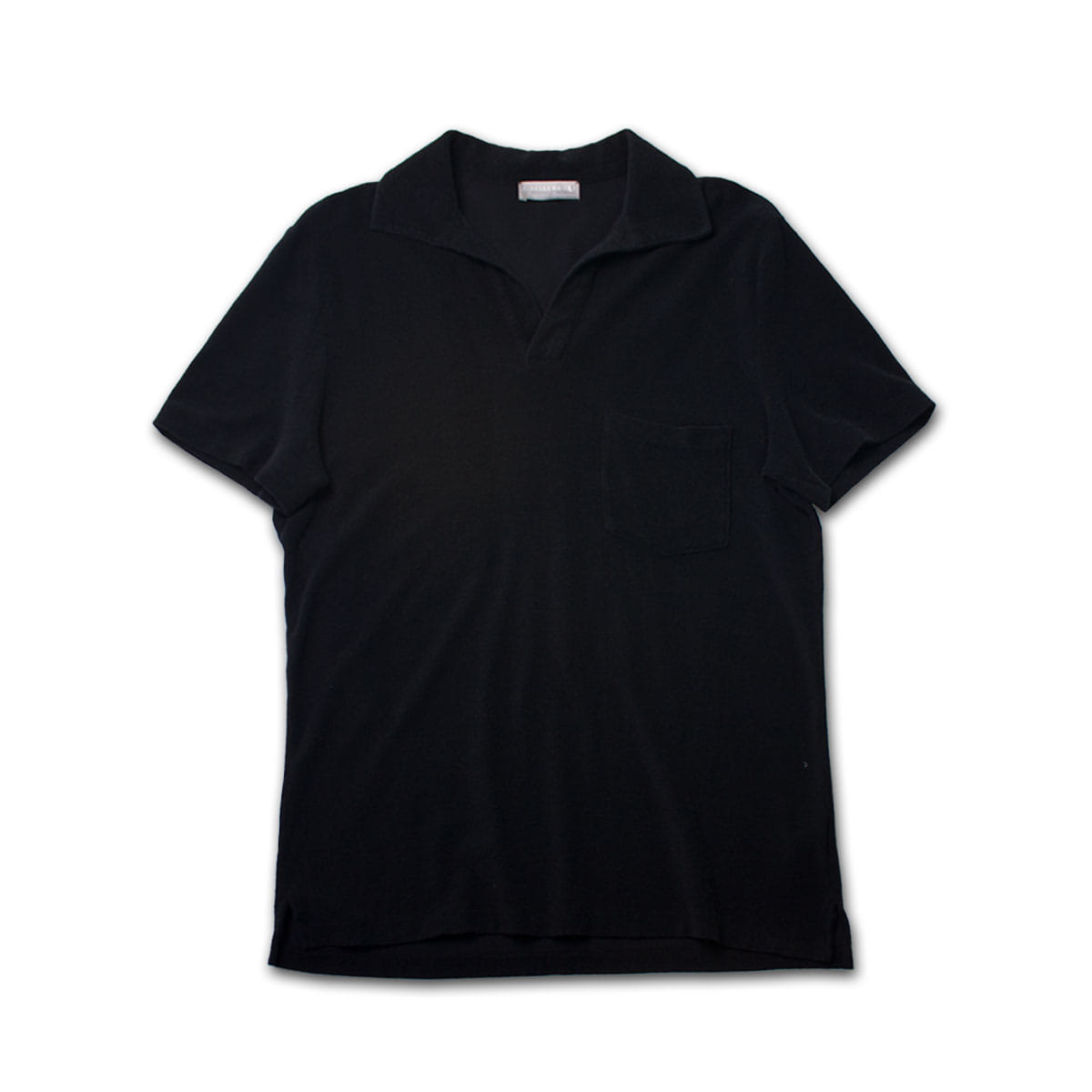 [GIRELLI BRUNI] OPEN COLLAR POLO SHIRT 'BALCK'