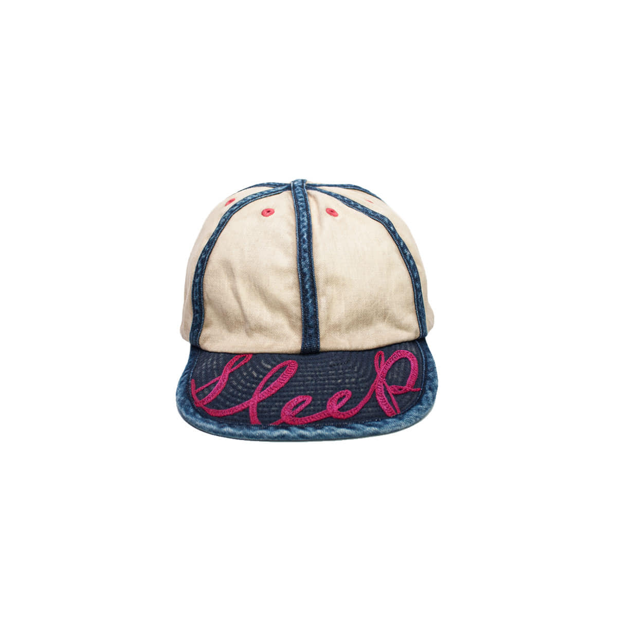 [KAPITAL] SLEKI x 8OZ DENIM KOLA CAP (SLEEP EMBROIDERY) 'NATURAL'