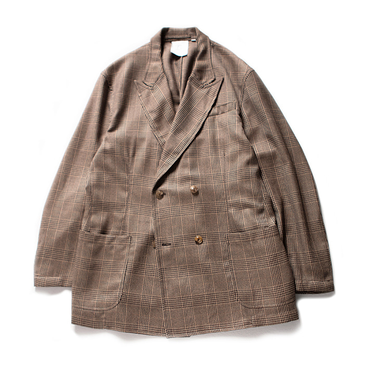 [BROWNYARD] DOUBLE BREASTED JACKET 'BROWN CHECK'