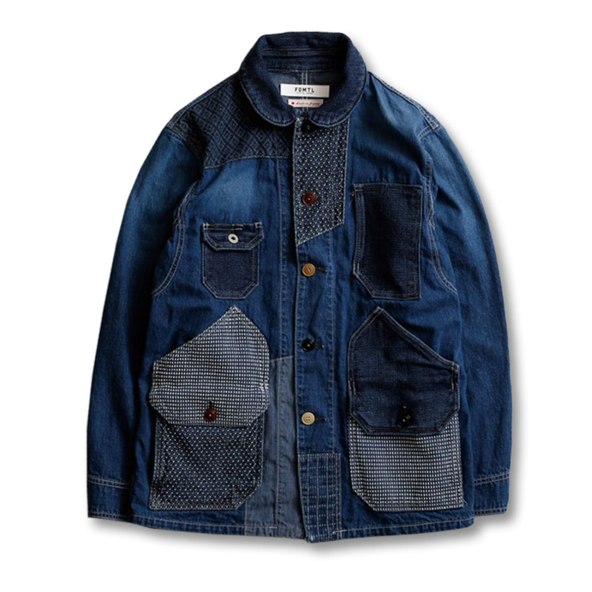 [FDMTL] PATCHWORK COVERALL 2YEAR 'INDIGO'