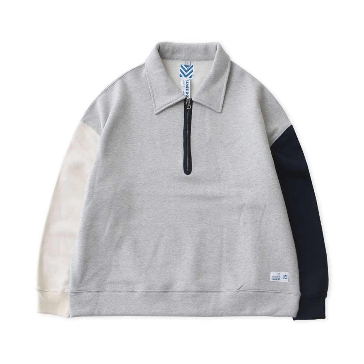 [DAILY INN] REMIXED 3 COLORS HEAVY WEIGHT OVERSIZED HALF ZIP-UP SWEAT WITH KIREAN STUDIO 'REMIX'