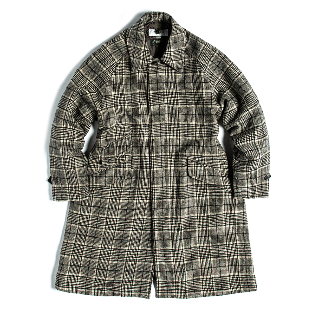 [EASTLOGUE] BALMACAAN COAT 'BEIGE & BLACK CHECK'