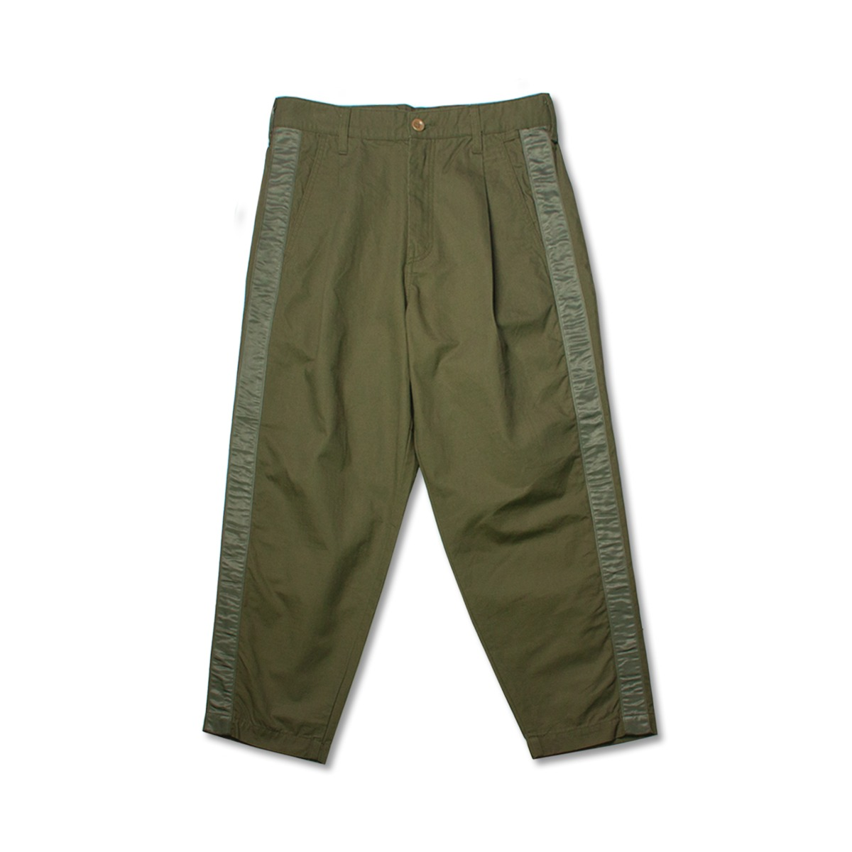[FDMTL] SIDE TAPE WIDE CROPPED PANTS 'KHAKI'