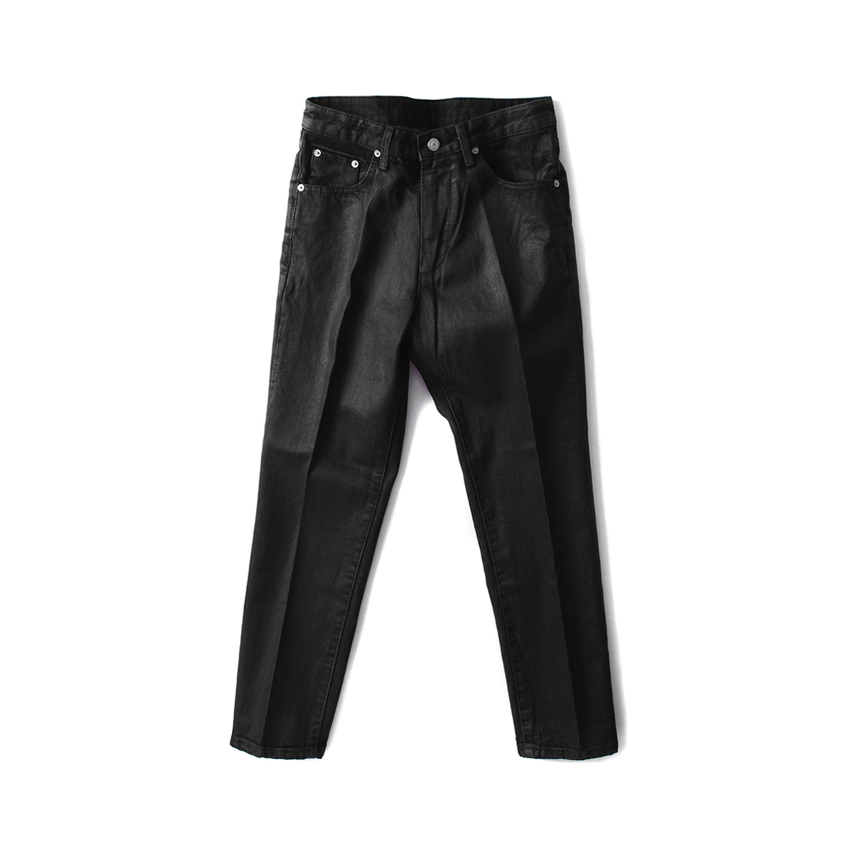 [BIRTHDAYSUIT] SLIM FIT COATED JEANS 'BLACK'