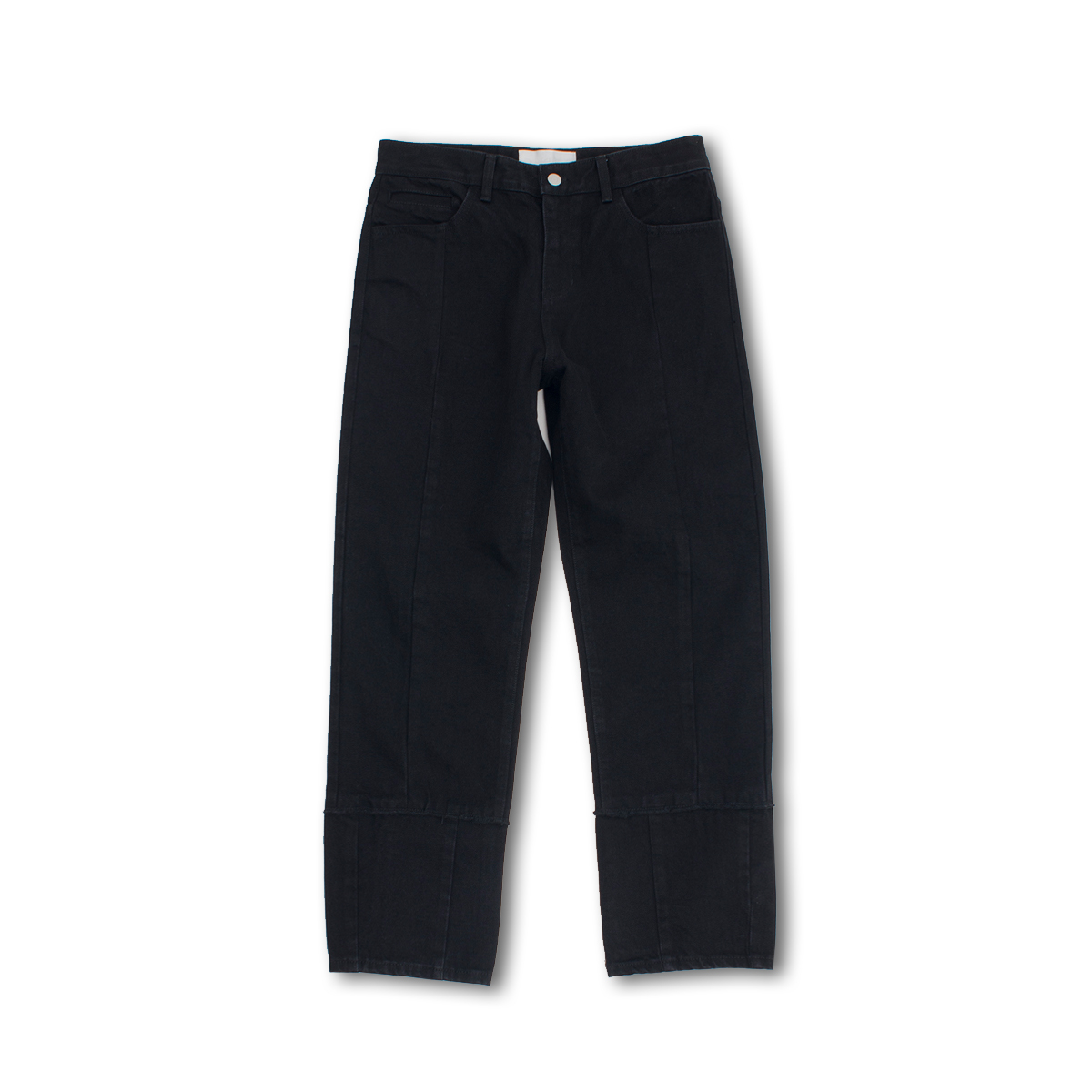[GAKURO] TAPERED DENIM PANTS 'BLACK ONE WASHED'