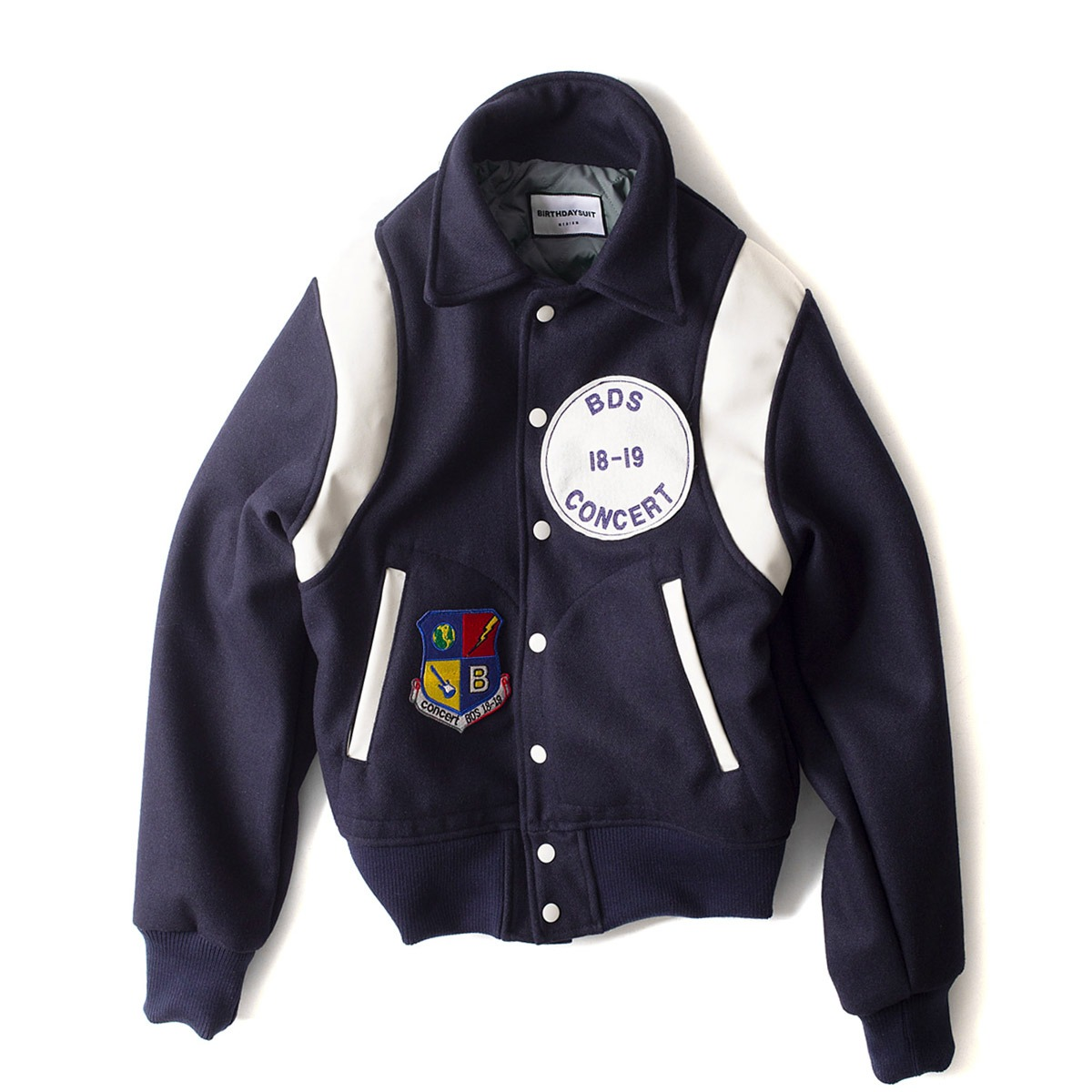 [BIRTHDAYSUIT] STADIUM JACKET 'NAVY'