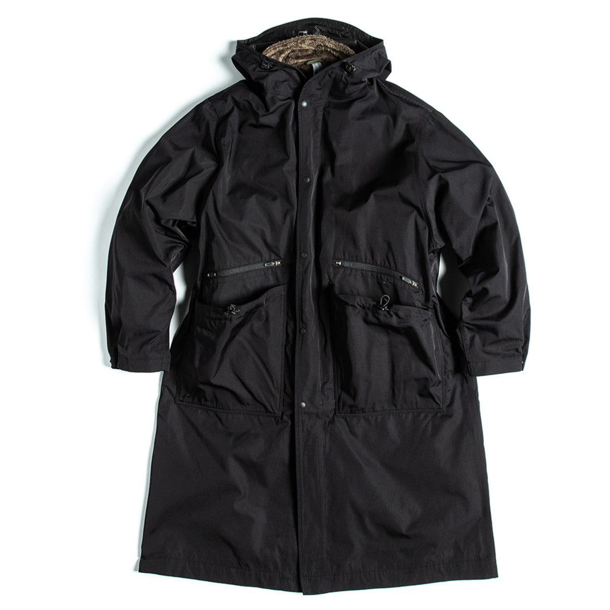 [UNAFFECTED] OVERSIZED LONG PARKA 'BLACK'