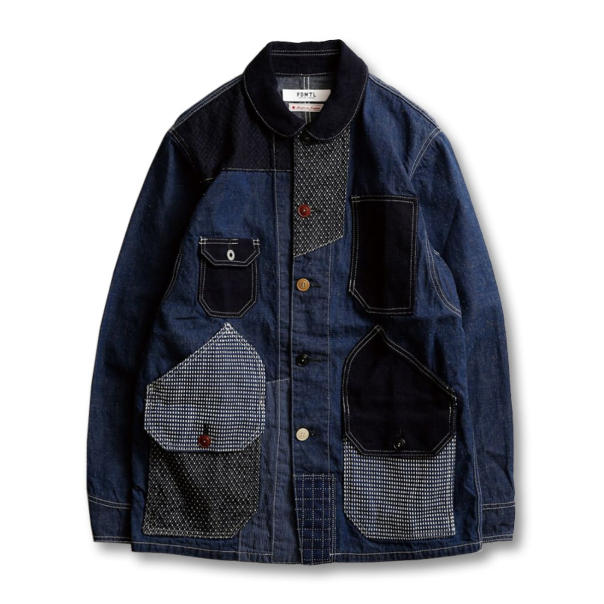 [FDMTL] PATCHWORK COVERALL RINSE 'INDIGO'