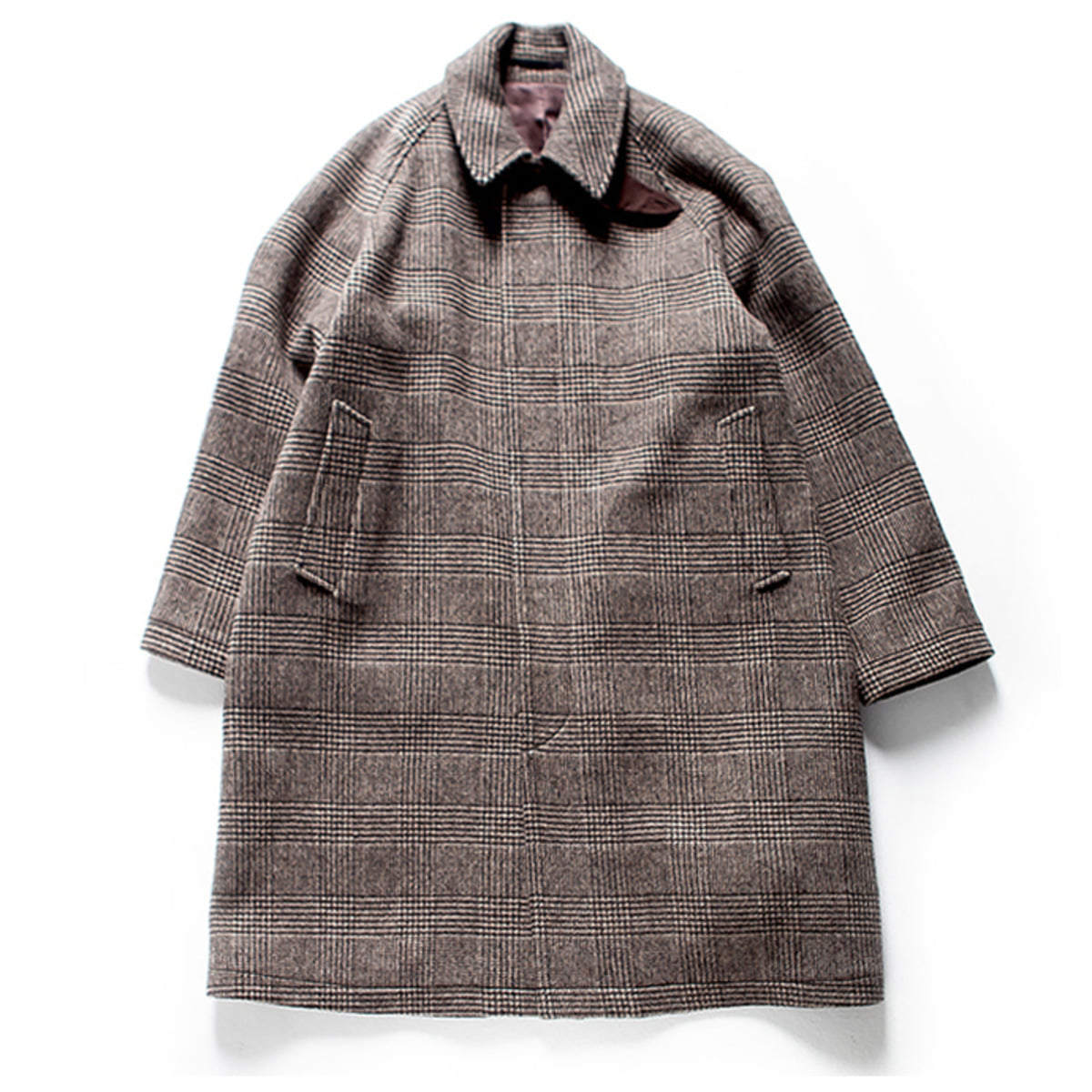 [BROWNYARD] BALMACAAN COAT 'BROWN CHECK'