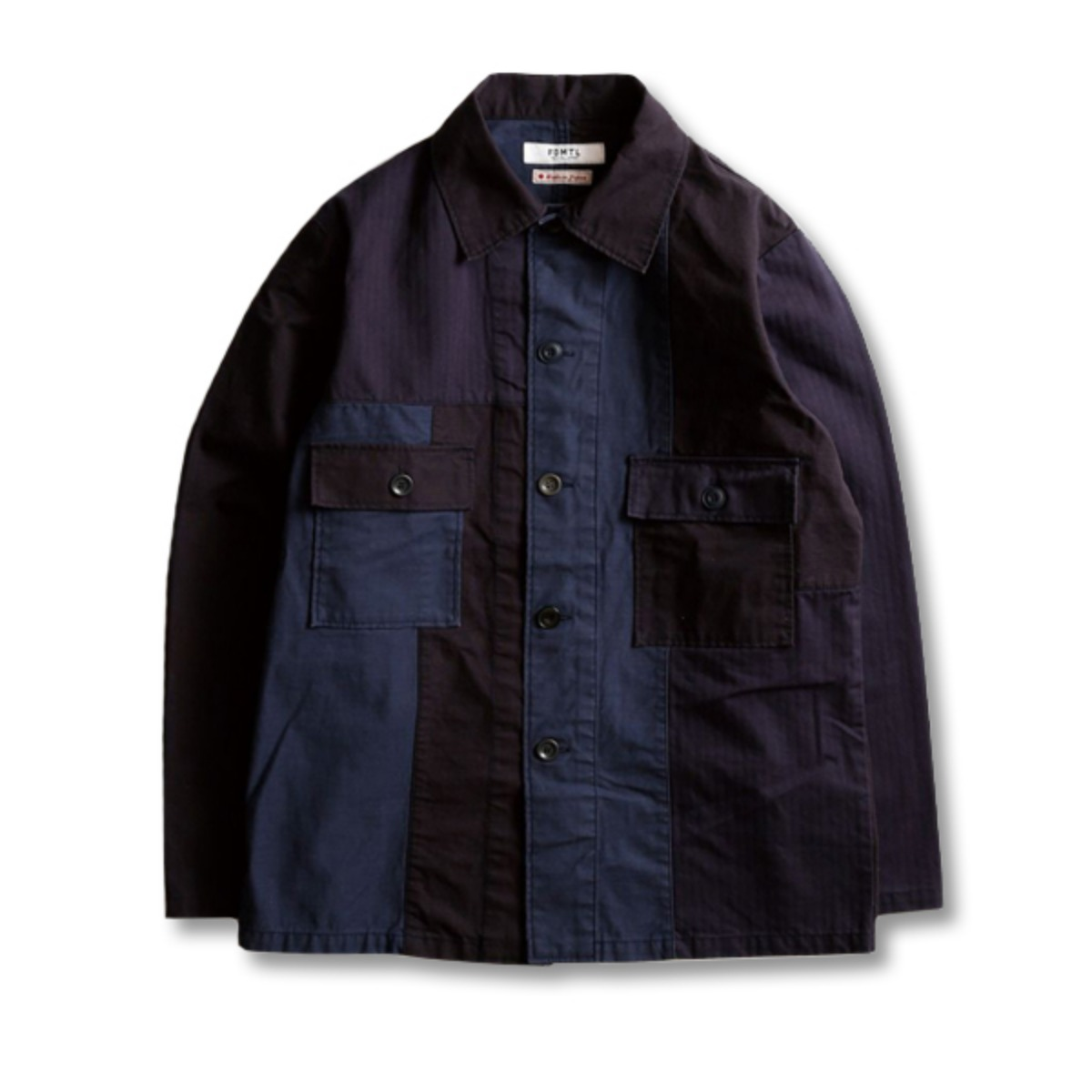 [FDMTL] PATCHWORK SHIRT JACKET 'NAVY'