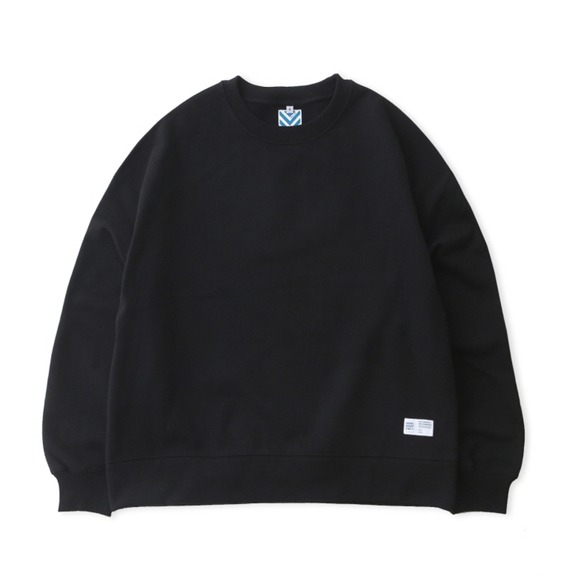 [DAILY INN] HOTEL SIGNATURE 970G SUPER HEAVY WEIGHT OVERSIZED SWEAT 'BLACK'
