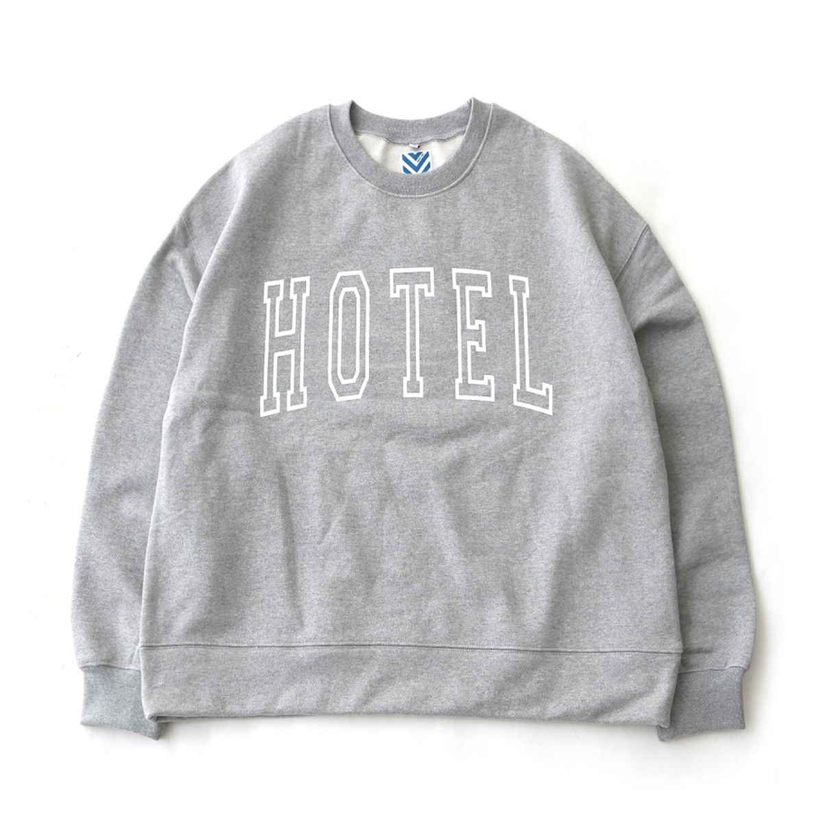 [DAILY INN] HOTEL BIG LOGO SOFT HEAVY WEIGHT OVERSIZED SWEAT 'MELANGE'