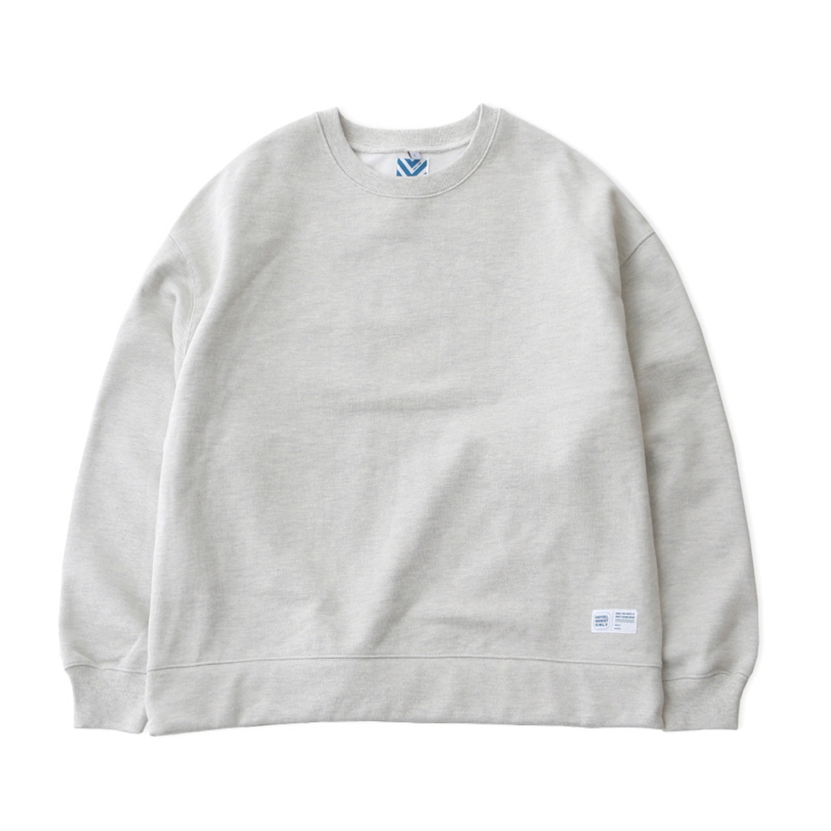 [DAILY INN] HOTEL SIGNATURE 970G SUPER HEAVY WEIGHT OVERSIZED SWEAT 'LIGHT MELANGE'