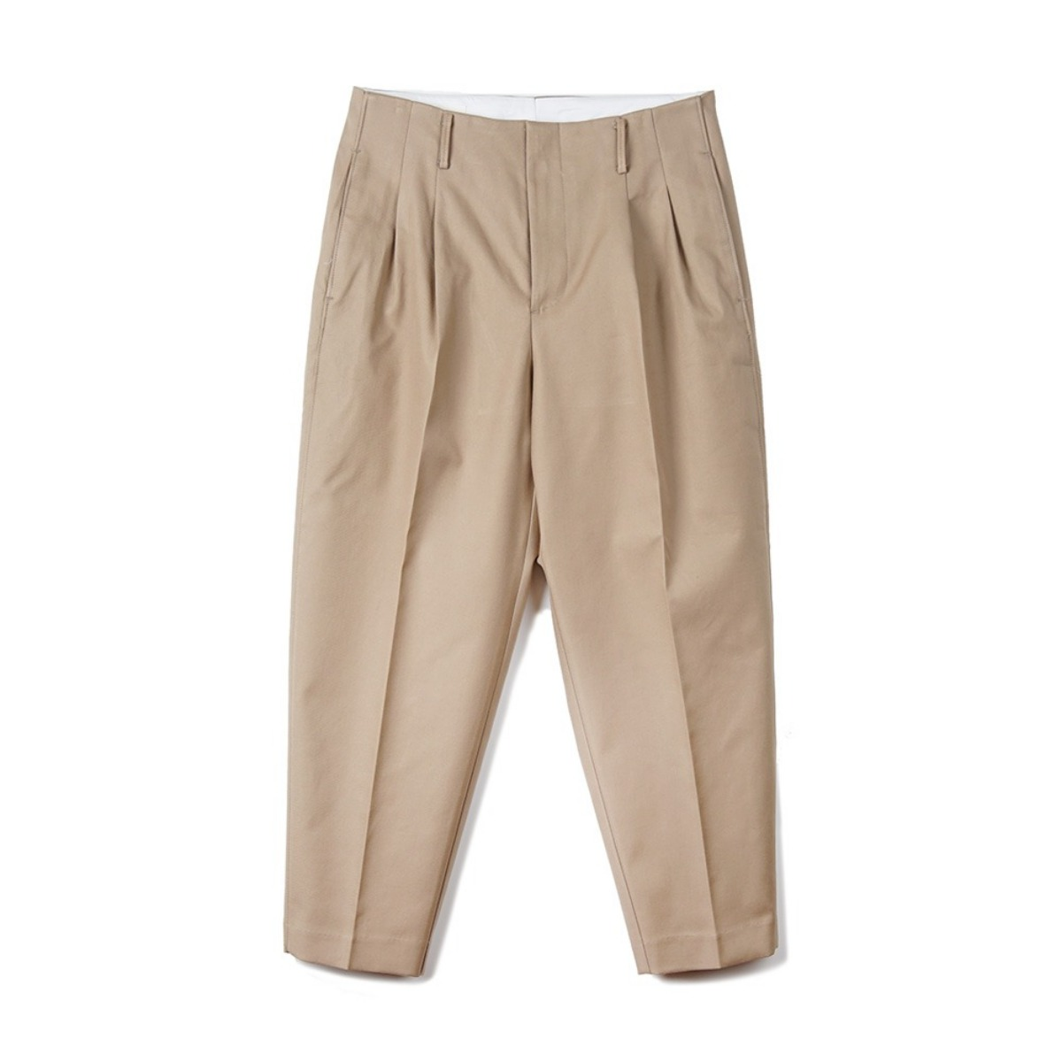 [OOPARTS] OPT18FWPT01OL CARROT-FIT CLASSIC PANTS 'KHAKI'