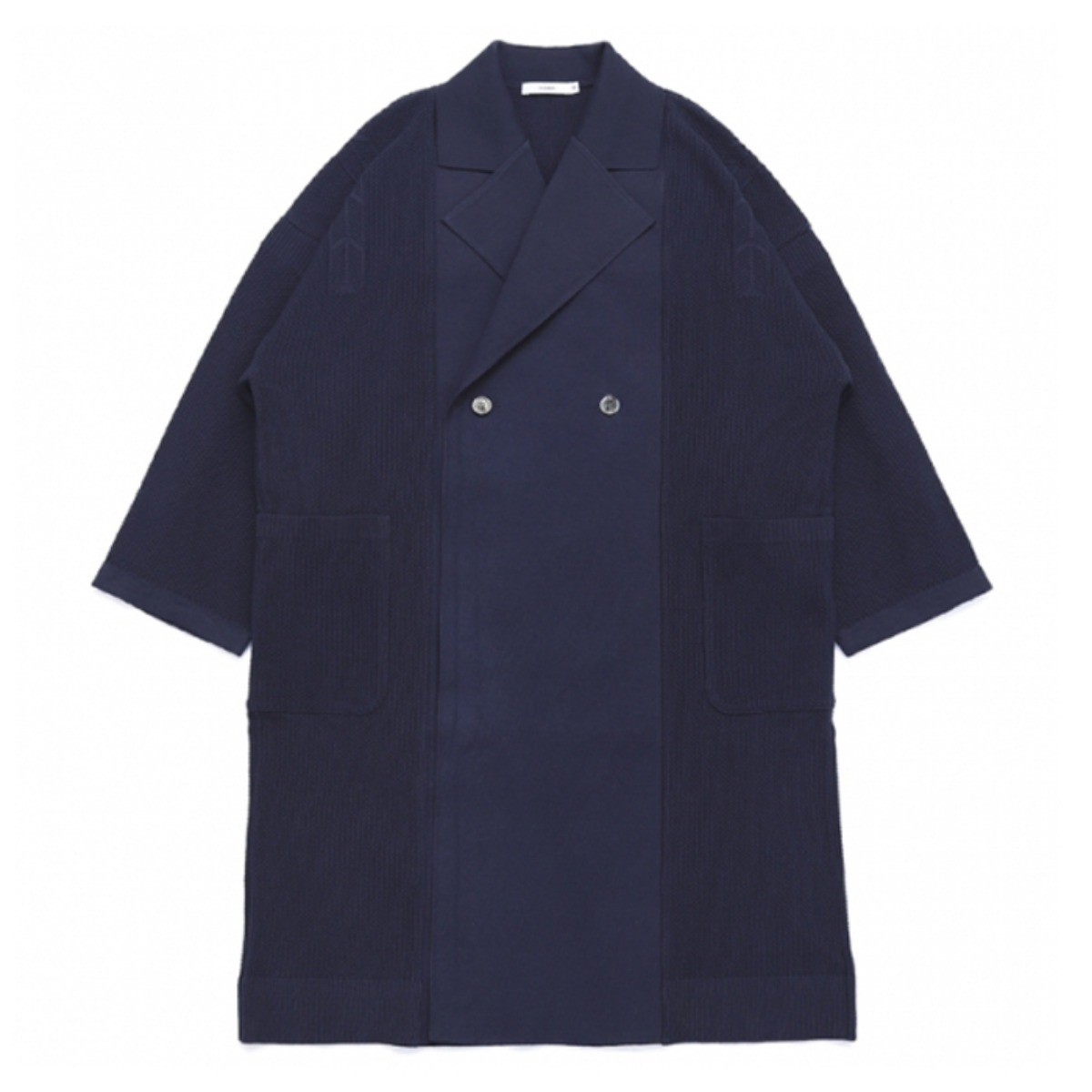 [YASHIKI] SAMIDARE KNIT COAT 'NAVY'