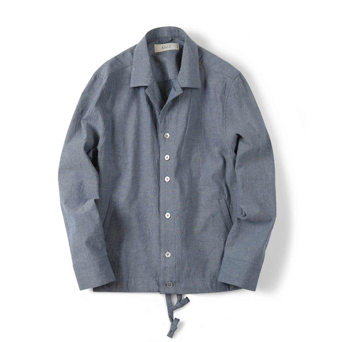 [SHIRTER] DRAWSTRING CHAMBRAY JACKET 'BLUE'