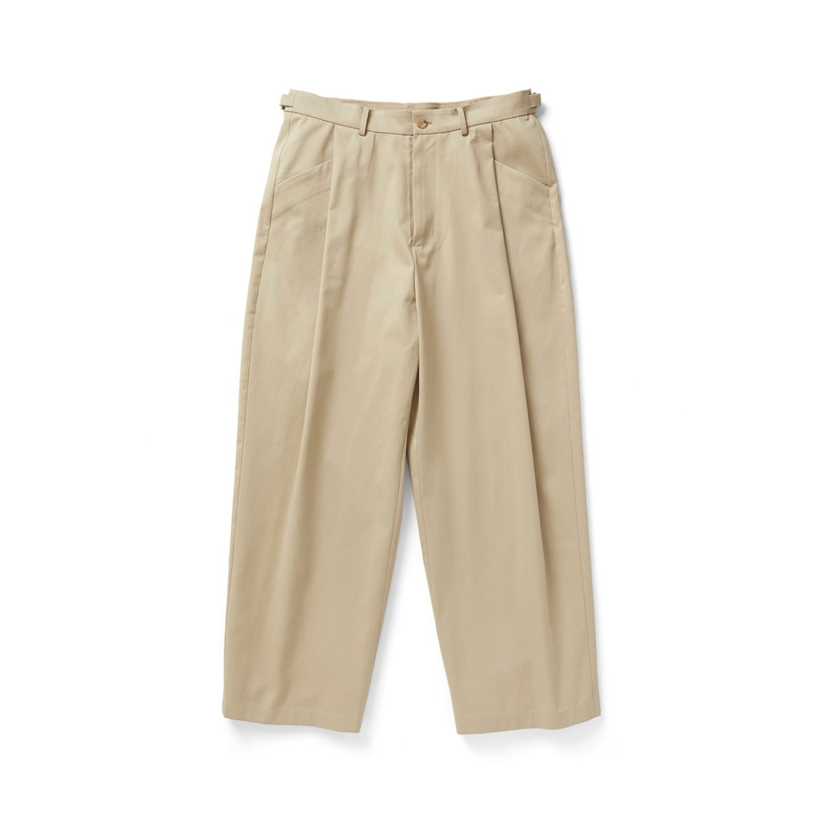 [YOUTH] STRUCTURED WIDE PANTS 'BEIGE'