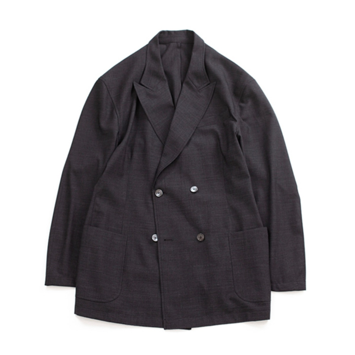 [BROWNYARD] DOUBLE BREASTED JACKET 'GREY'
