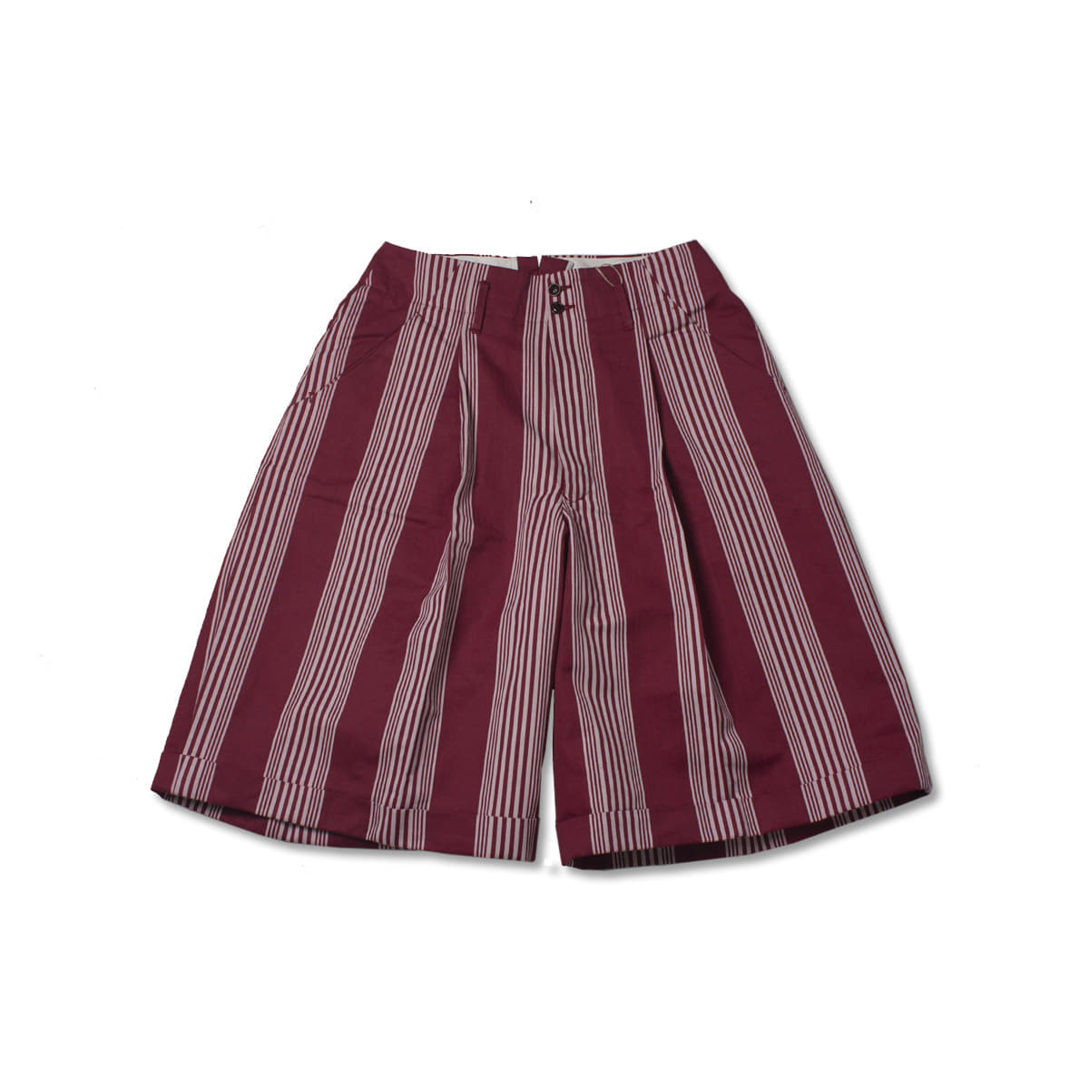 [HAVERSACK] STRIPE HALF PANTS 'RED'