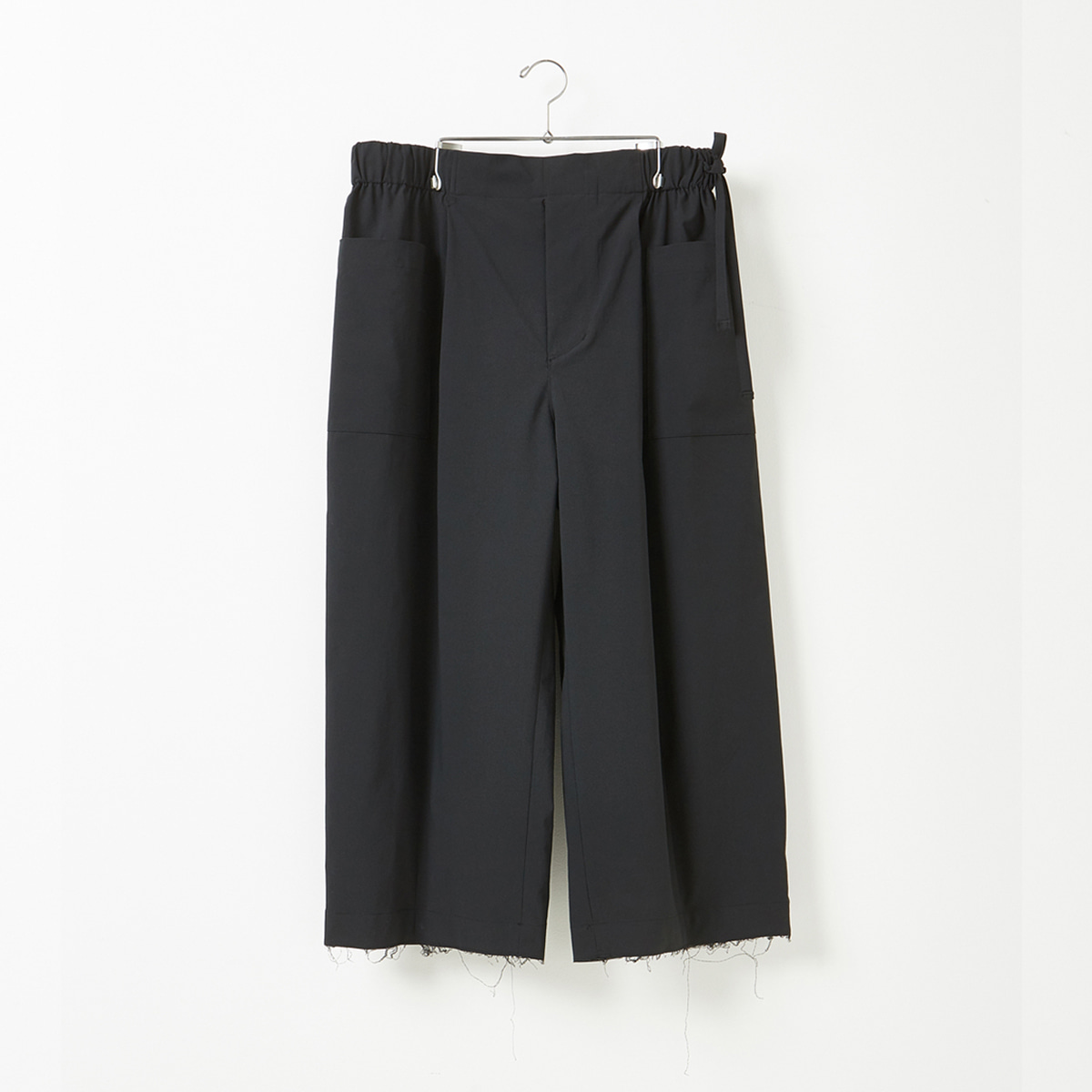 [YOUTH] WIDE CROPPED PANTS 'BLACK'