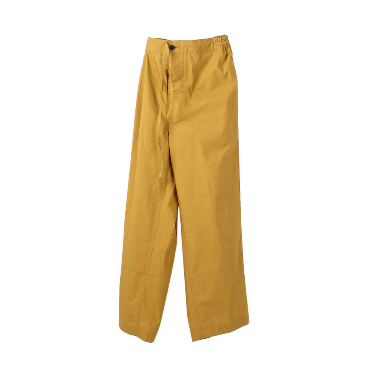 [DOCUMENT] COTTON WIDE PANTS 'YELLOW'