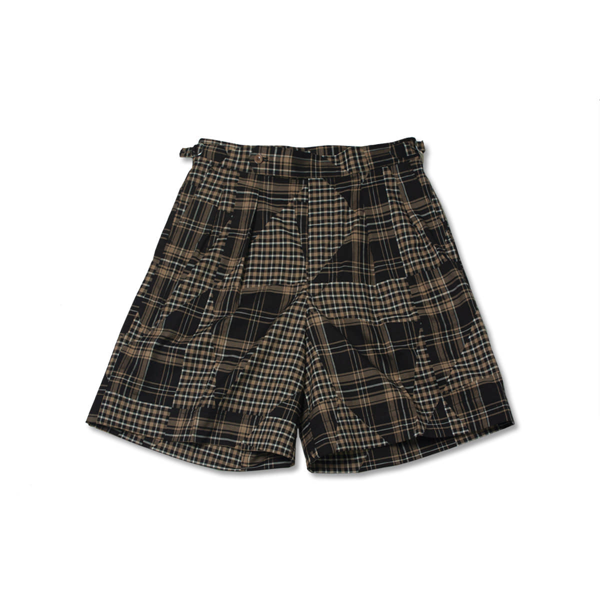 [HAVERSACK] PATCHWORK CHECK SHORTS