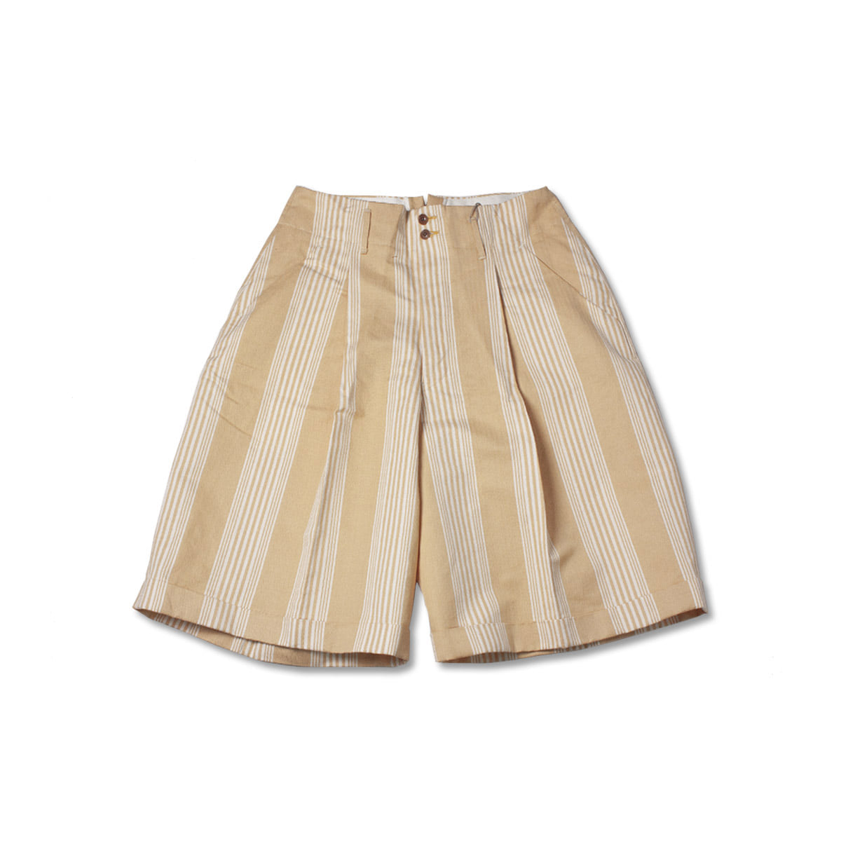 [HAVERSACK] STRIPE HALF PANTS 'YELLOW'