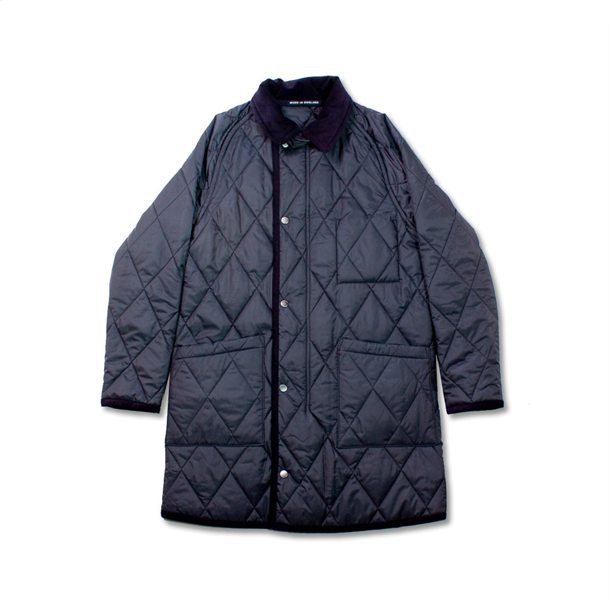 [LONDON TRADITION] COLLAR QUILTED COAT 'SUFFOLK NAVY'