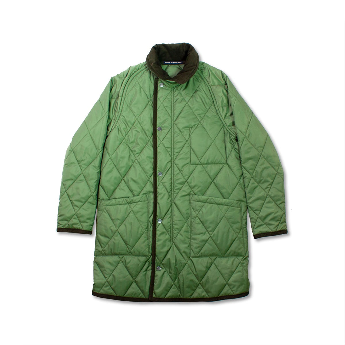 [LONDON TRADITION] COLLAR QUILTED COAT 'GREEN SWARD'